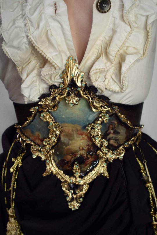 baroque painterly waspie corset by candy makeup artist