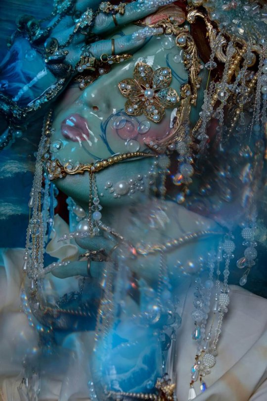 watery baroque faux porcelain costume