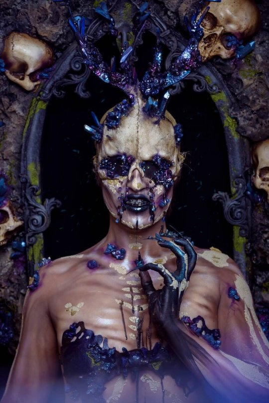 voodoo makeup and costume by candy makeup artist
