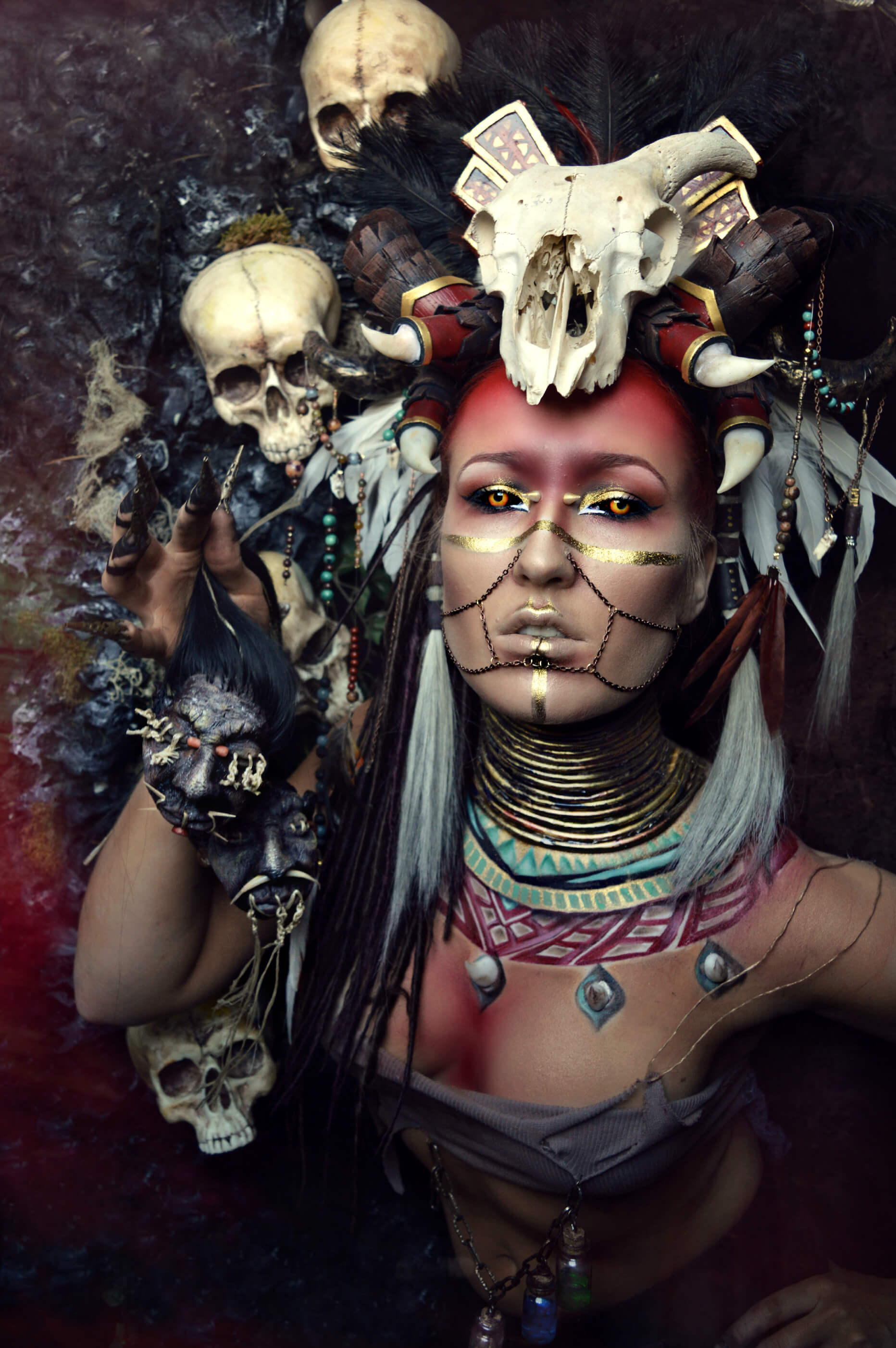 Voodoo make up and styling by candy makeup artist