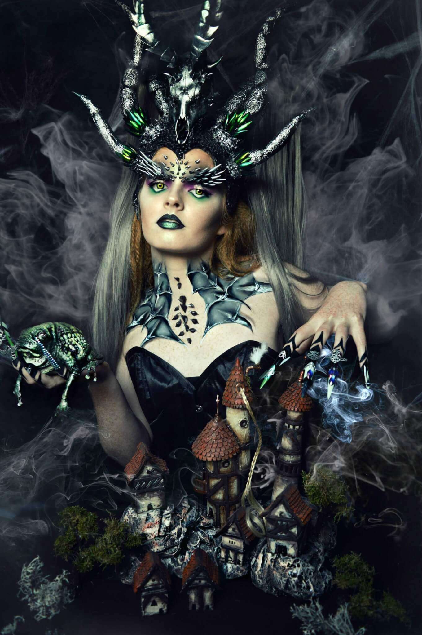 The witch and the frog styling and makeup