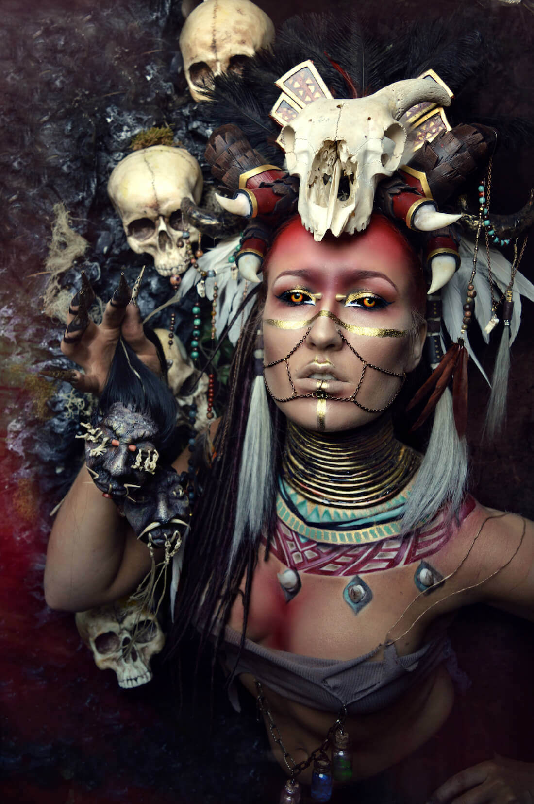 voodoo-makeup-styling-extreme-halloween-candy-makeup-artist
