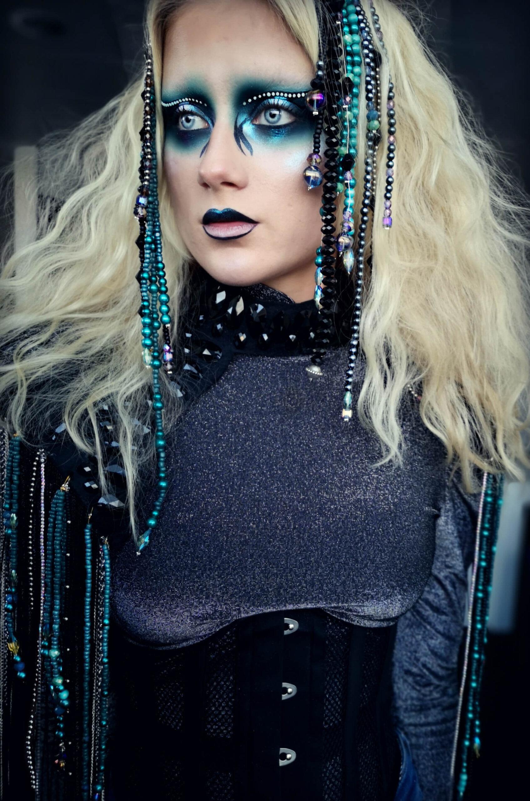 disco makeup and costume- candy makeup artist