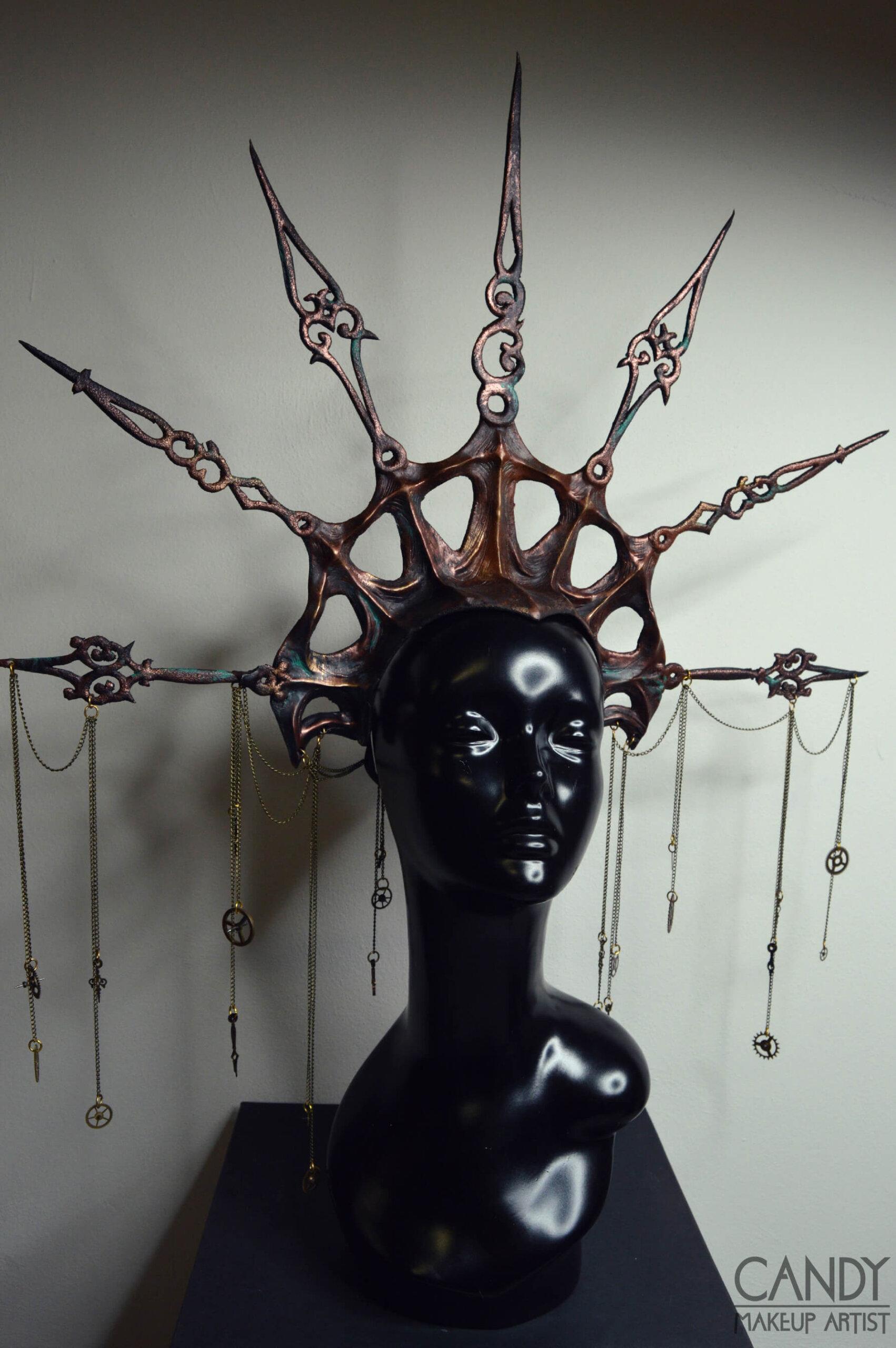 headdress steampunk time traveler - candy makeup artist