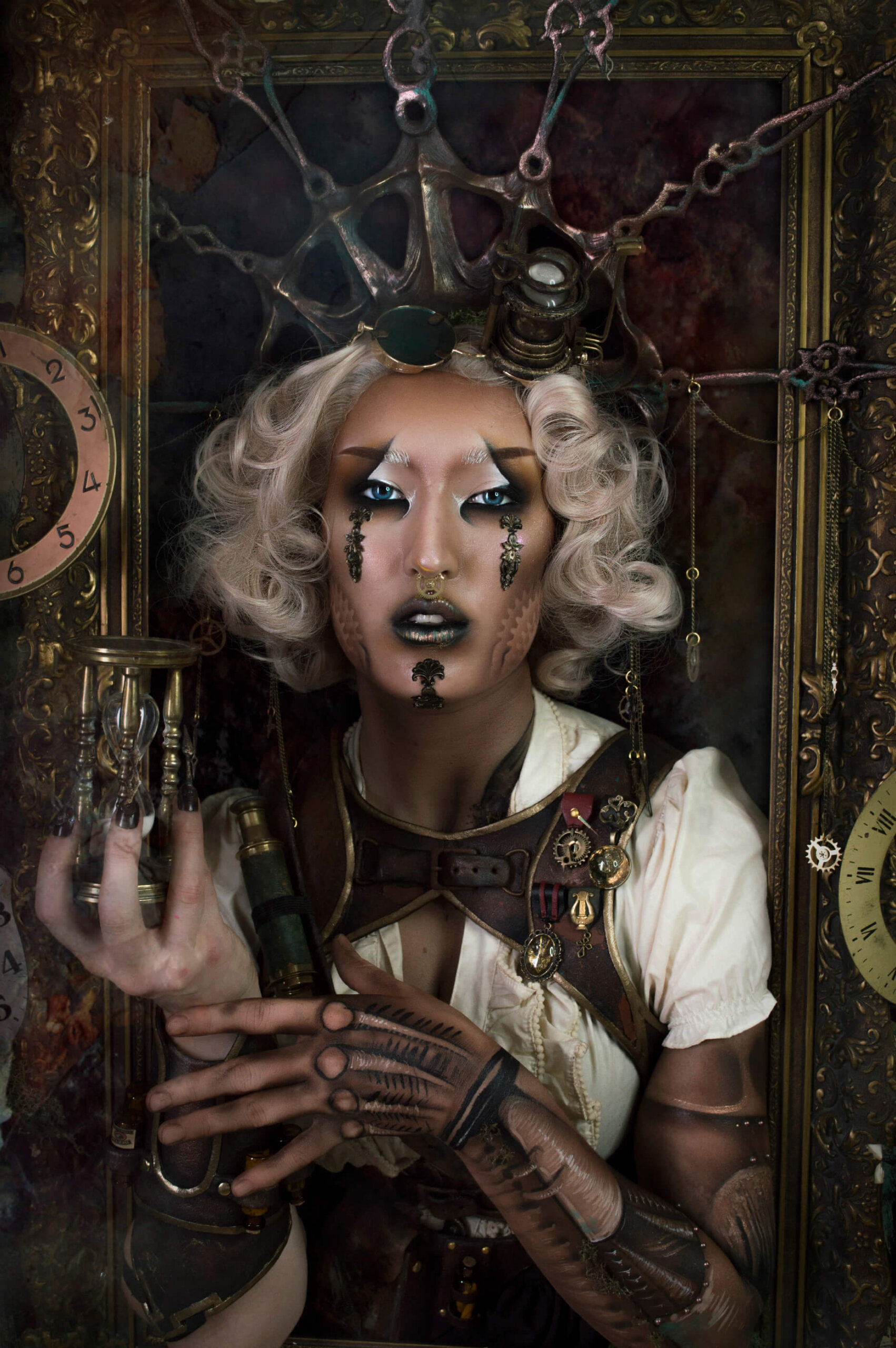 steampunk costume - candy makeup artist