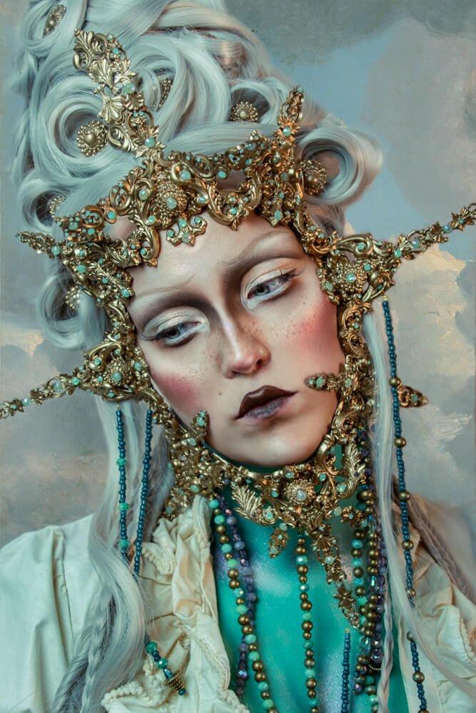 Baroque costume and makeup - candy makeup artist