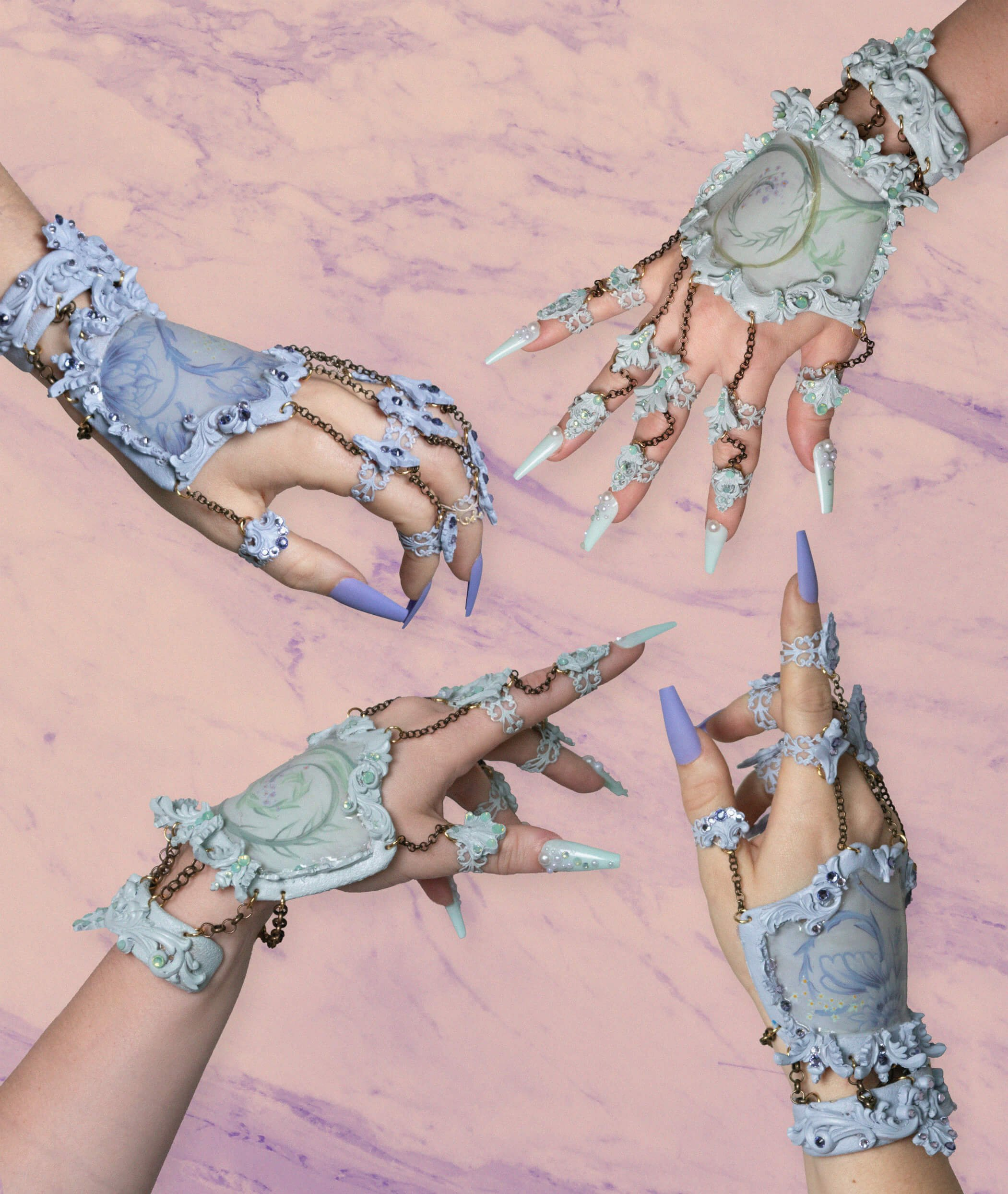 pastel hand jewelry