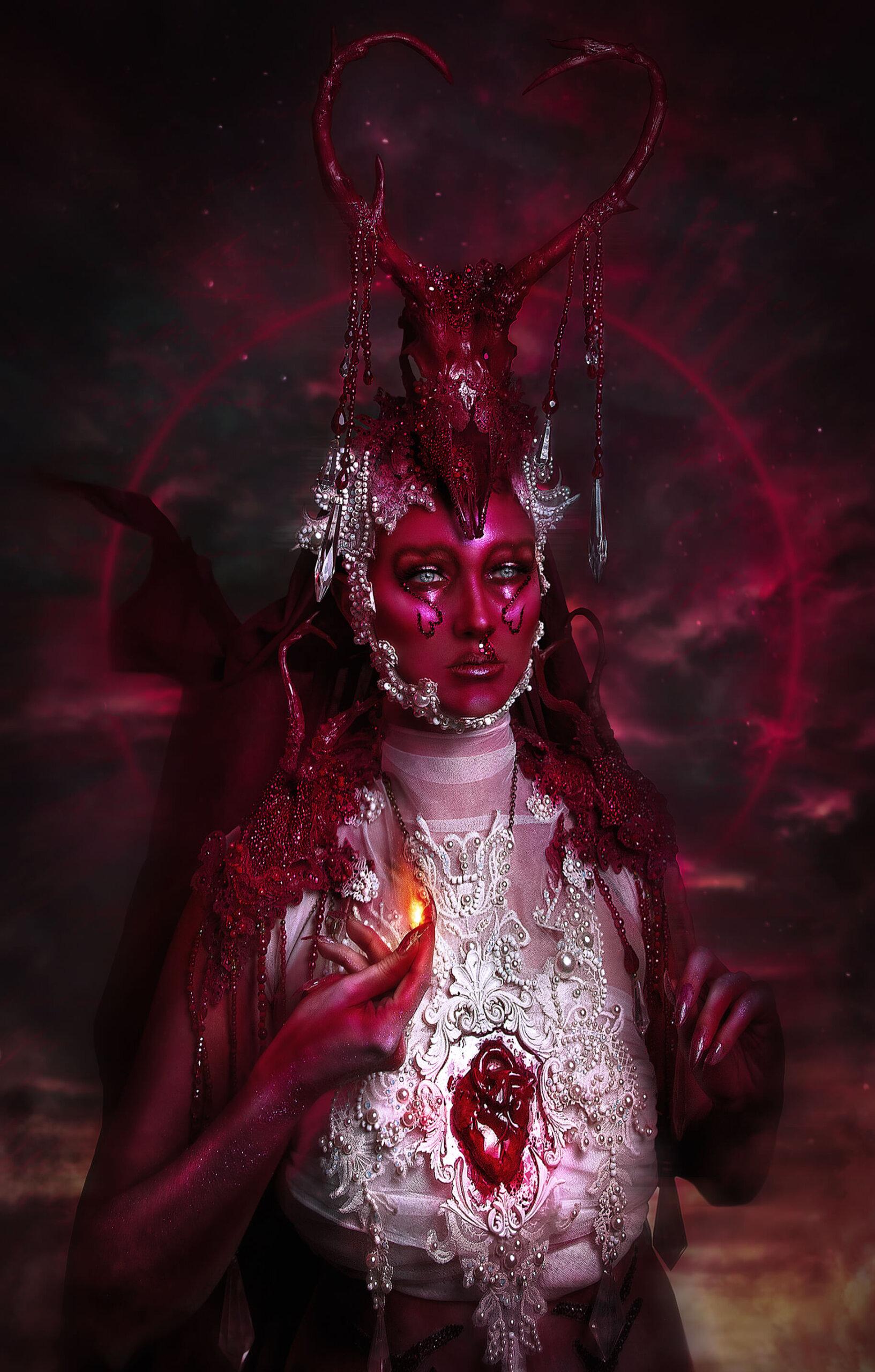 Valentine red make-up - candy makeup artist