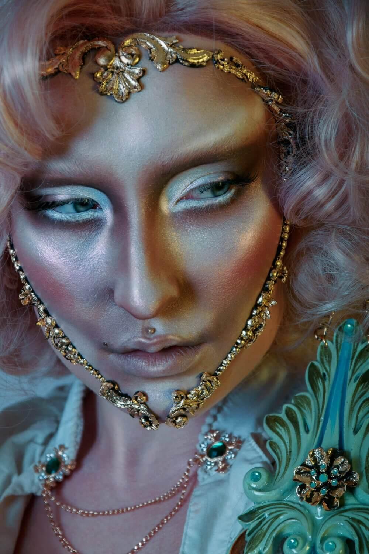 Baroque make-up close-up - candy makeup artist