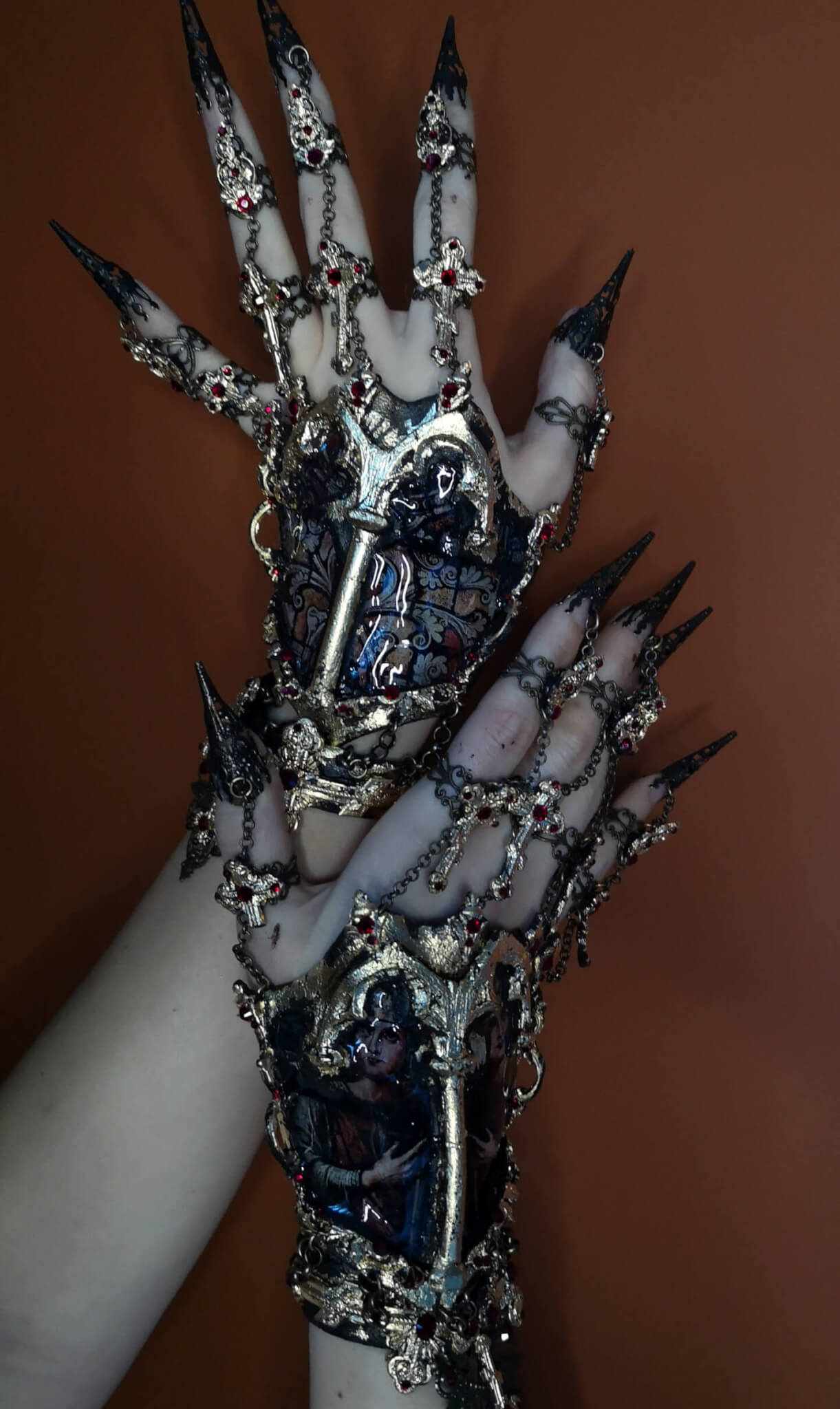 Stained glass hand jewelry - candy makeup artist