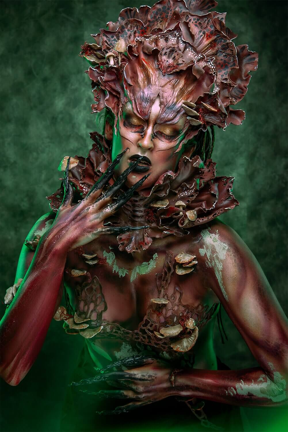 forest Nymph costume - candy makeup artist