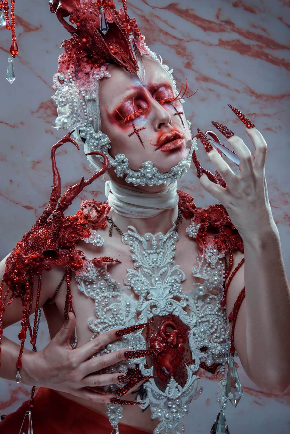 michael hussar inspired make-up and costume - candy makeup artist