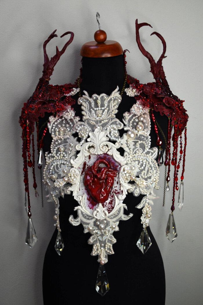 valentine skull chestpiece