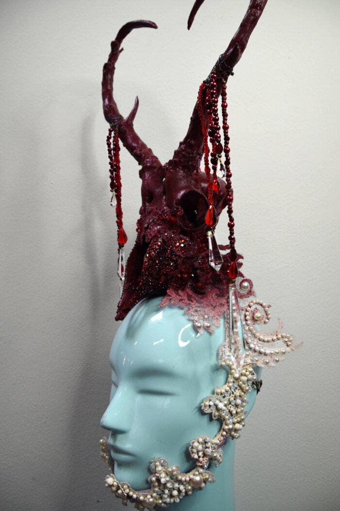 valentine skull headdress