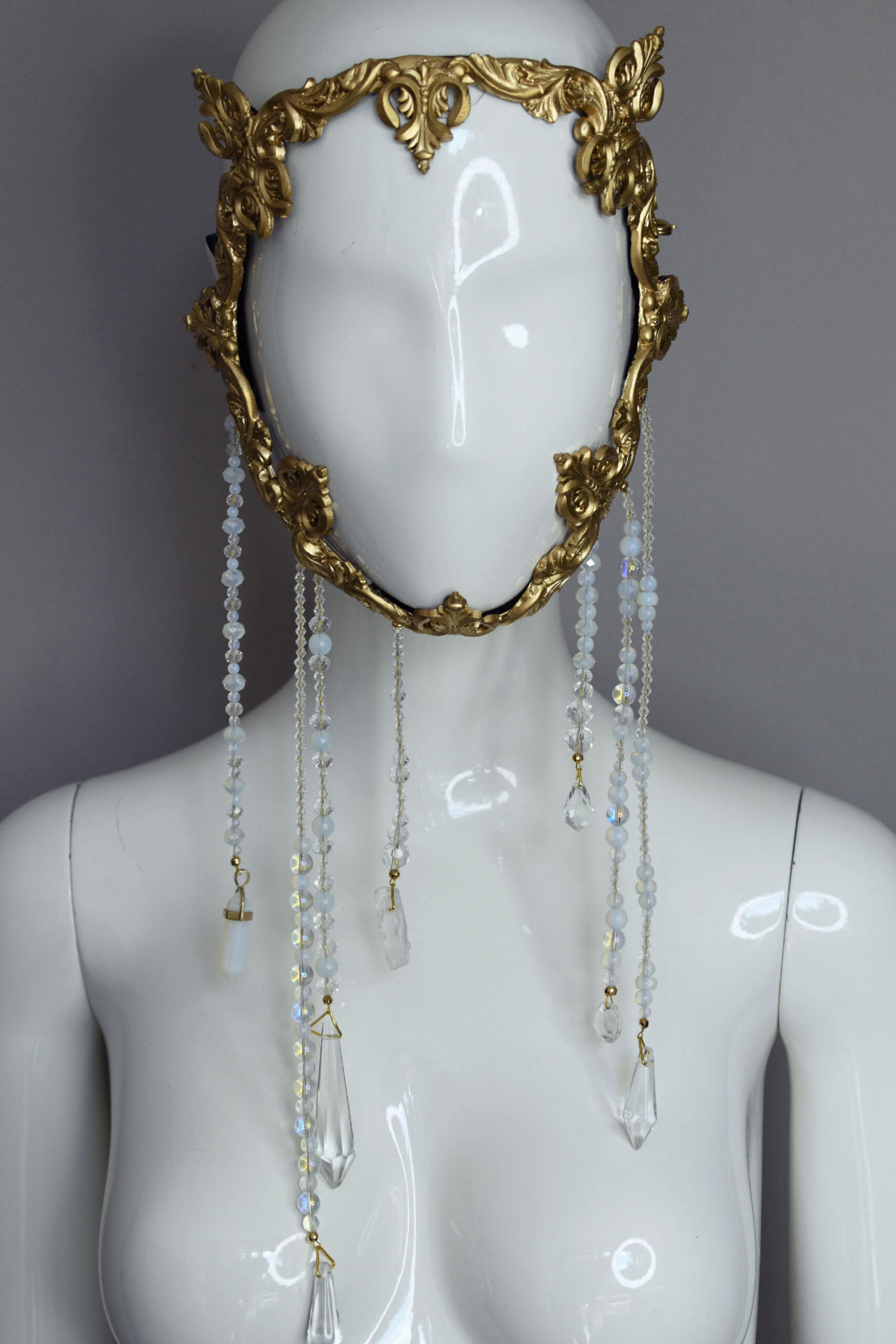 baroque gold frame mask - candy makeup artist