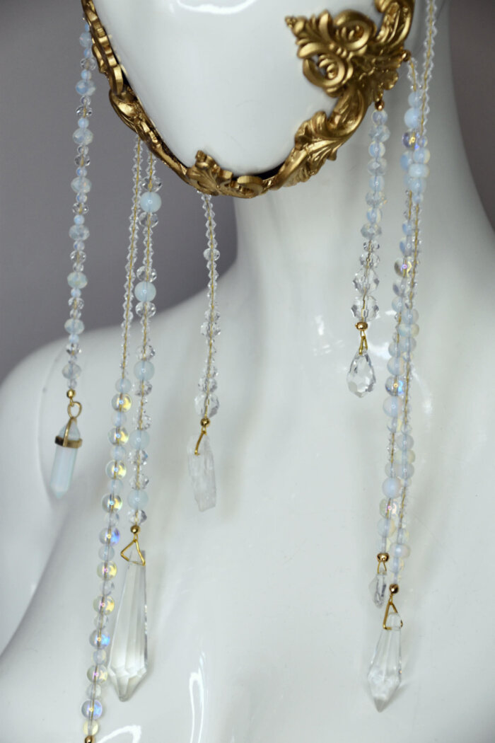 baroque gold frame mask - candy ma