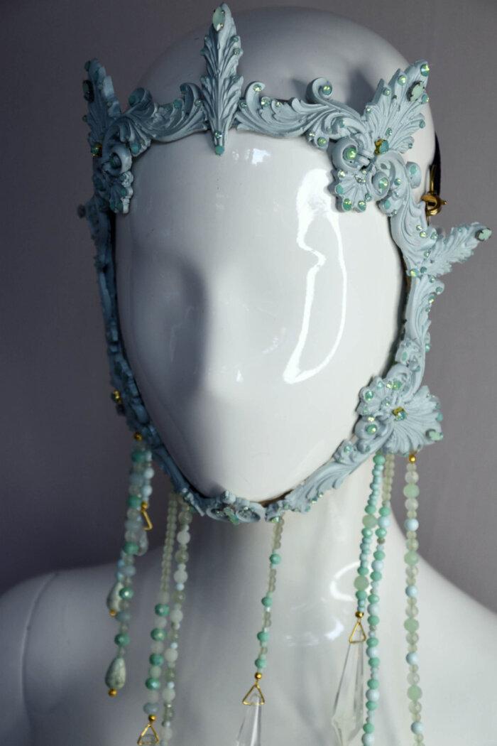 mint baroque frame mask- candy makeup artist