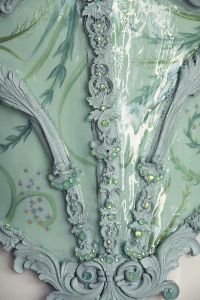 mint baroque corset - candy makeup artist