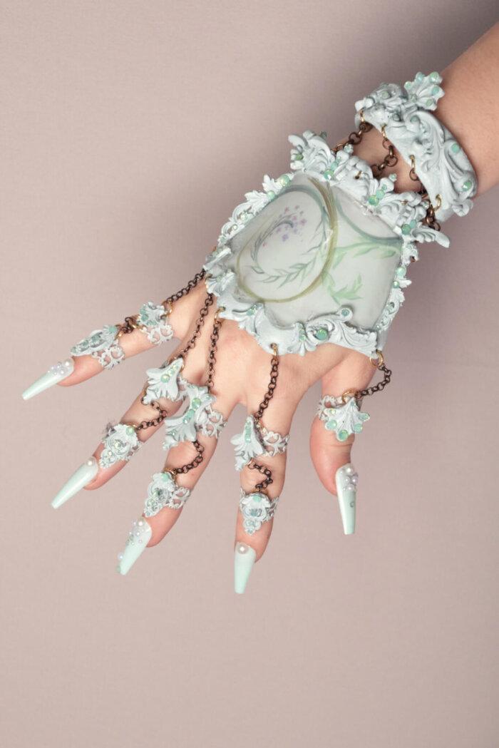 mint hand jewelry - candy makeup artist