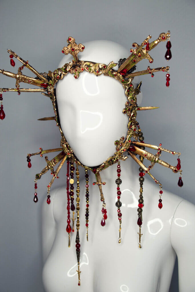 cathedral sword mask - candy makeup artist
